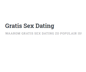 Gratis Sex Dating